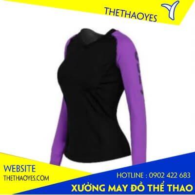 Áo tập gym nữ dài tay