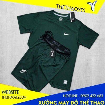 quần áo thể thao nam xanh rêu
