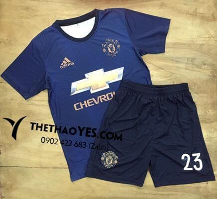 bộ đồng phục thể thao xanh dương