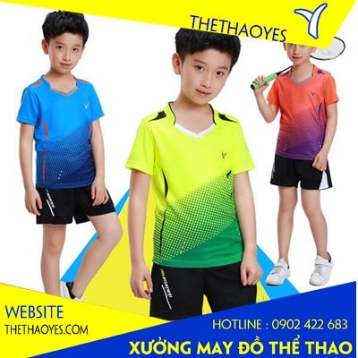 đồng phục cầu lông trẻ em