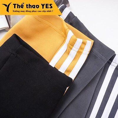 quần thể thao adidas 3 sọc vàng
