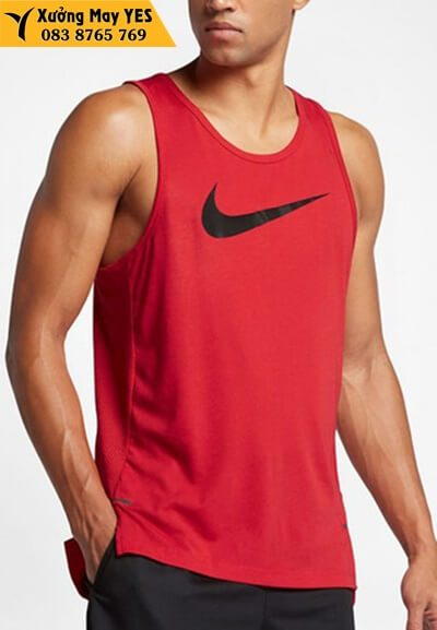 áo ba lỗ nam đỏ