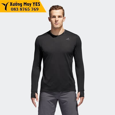 áo thun tay dài nam đen