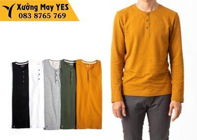 áo thun tay dài nam vàng