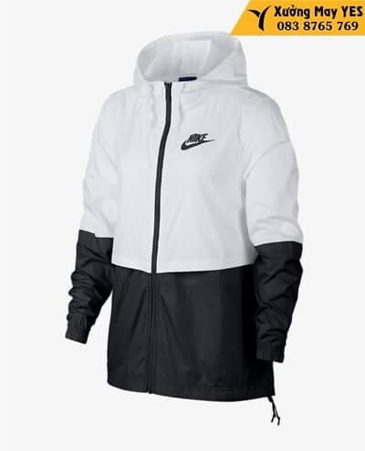 áo khoác nam nike trắng đen