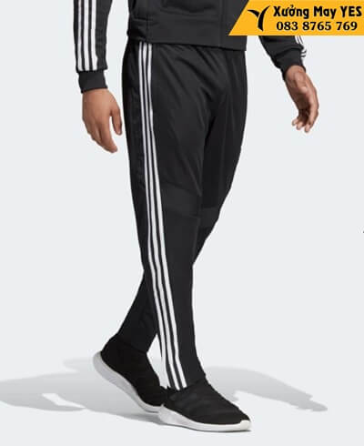quần dài adidas nam đen