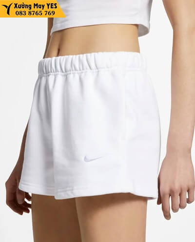 may Quần short thể thao nữ trắng