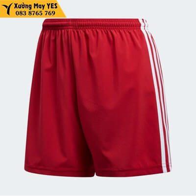 may Quần short thể thao nữ đỏ