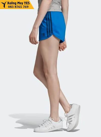 Quần short thể thao nữ xanh