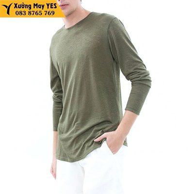 may áo thun tay dài nam rẻ