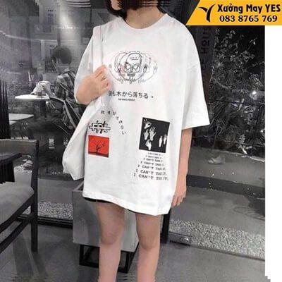 may áo phông free size nữ đẹp