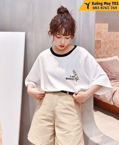 xưởng may áo phông free size nữ