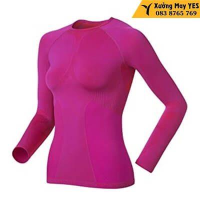 áo thun nữ tay dài hồng