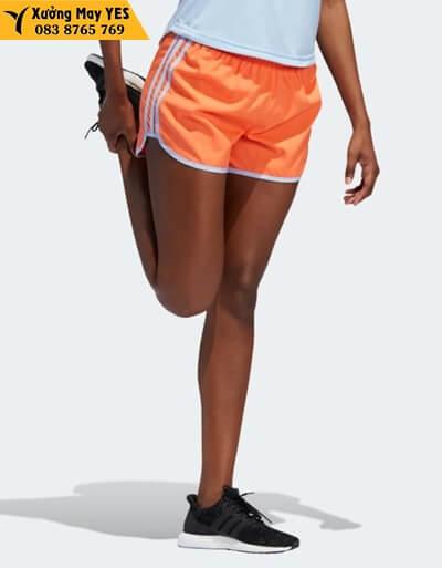 quần short thể thao nữ adidas cam