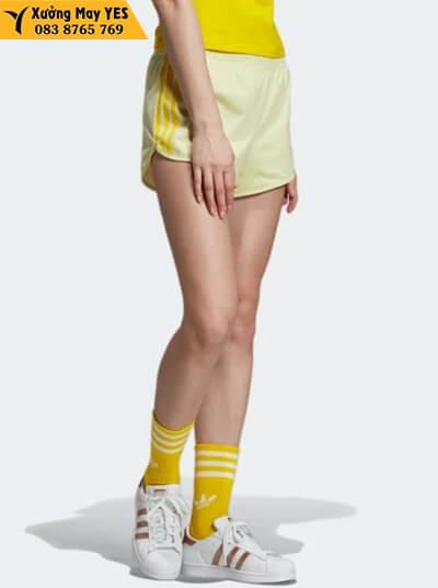 xưởng may quần short thể thao nữ adidas chính hãng