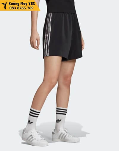 quần short thể thao nữ adidas đen