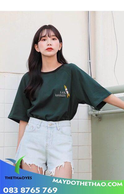 áo phông nữ form rộng tay lỡ