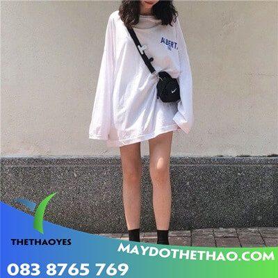 áo len tay dài nữ form rộng