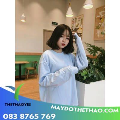 áo sơ mi trắng nữ form rộng tay dài