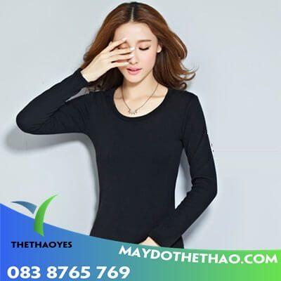áo thun tay dài nữ croptop