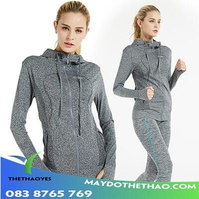 bộ quần áo khoác thể thao nữ