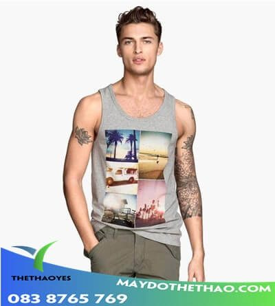 áo tank top nam layer