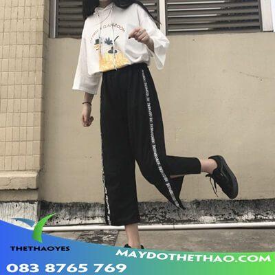 quần thun bó lửng nữ