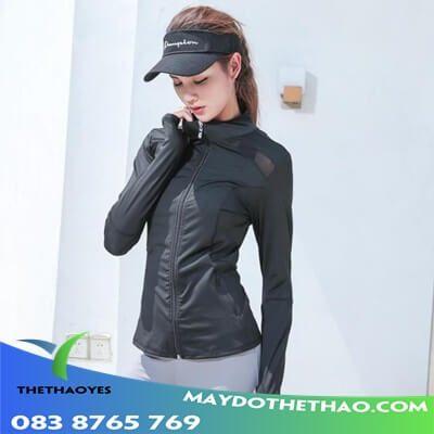 áo khoác gym nữ dài tay