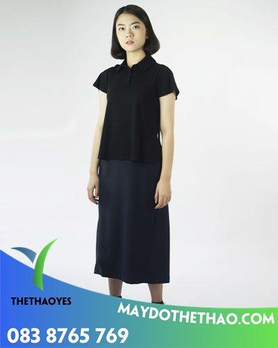 công ty may áo phông cổ bẻ nữ lững