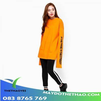 áo thun tay dài nữ body