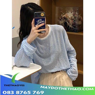 áo thun tay dài nữ có nơ