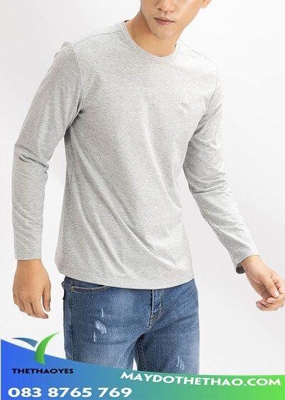 áo thun trơn tay dài nam cao cấp