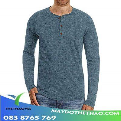 áo thun trơn tay dài nam body