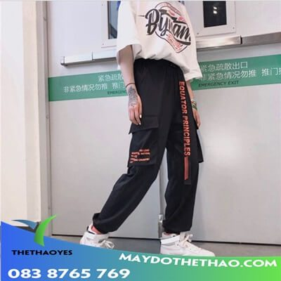 quần jogger túi hộp nữ tay dài