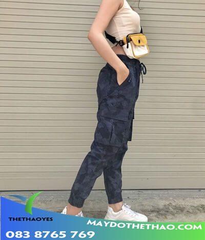 quần jogger túi hộp nữ dep