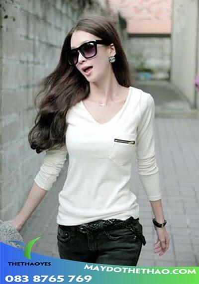 áo thun tay dài nữ cotton