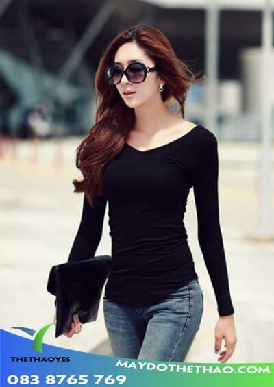áo thun tay dài nữ có nón